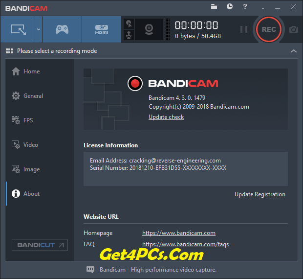 Bandicam 4.3.0 key Archives