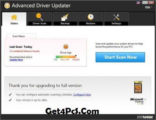 SysTweak Advanced Driver Updater Serial Key