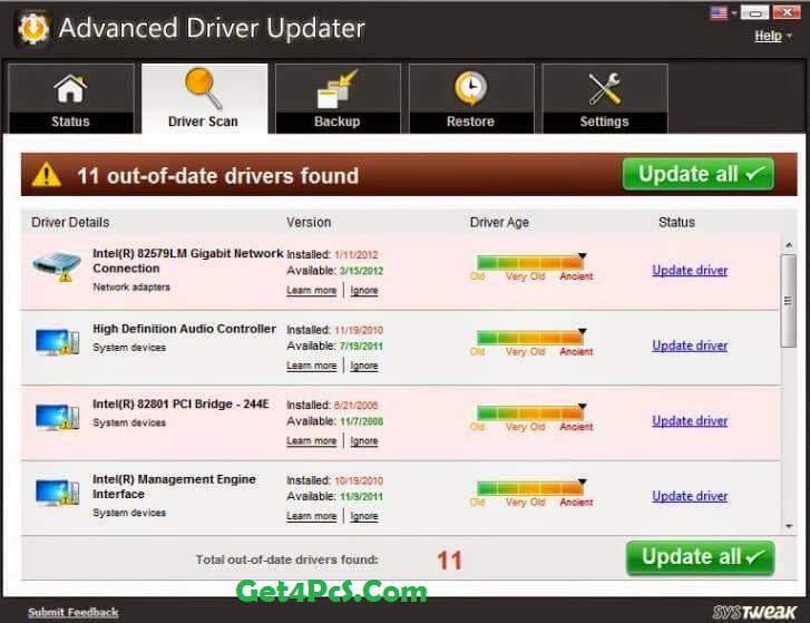 SysTweak Advanced Driver Updater