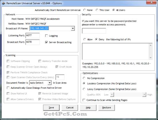 RemoteScan Enterprise Server Keygen